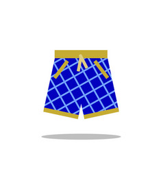 Swimming shorts icon isolated on white vector