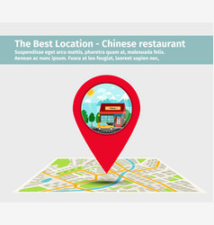 The best location chinese restaurant vector