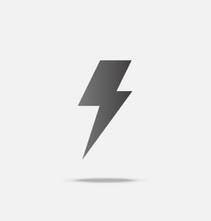 thunder bolt flat design with shadow vector image