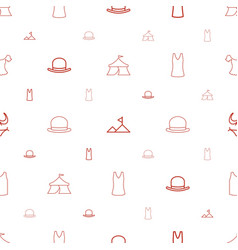 Top icons pattern seamless white background vector