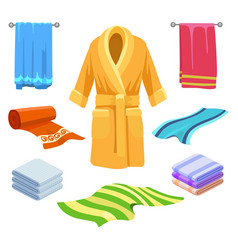 Towel and bathrobe sketch vector