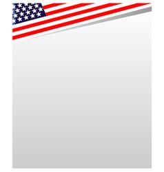 usa flag frame background vector image