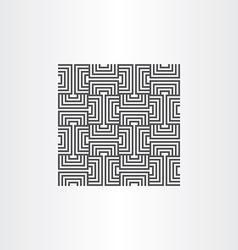 black seamless pattern line background element vector image