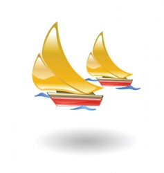 boats illustration vector image vector image