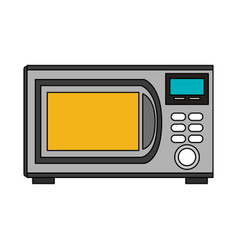 color image cartoon microwave oven element kitchen vector image vector image