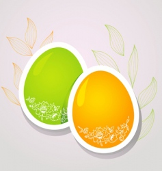 egg floral banners color vector image
