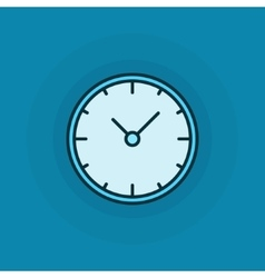 Flat clock icon vector image