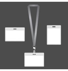 Lanyard badges vector image