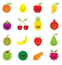 Mixed Fruits Character Cartoon vector image vector image
