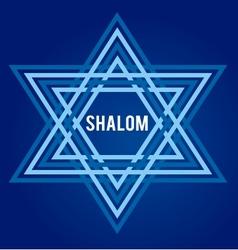 peace symbol david star vector image vector image
