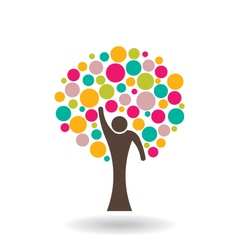 People Circle Tree vector image
