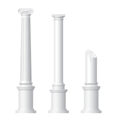 Realistic antique columns vector image