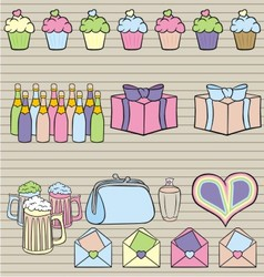 set of party vector image vector image