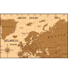 Vintage Europe map vector image
