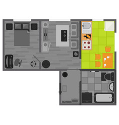 concept interior flat design on top view vector image