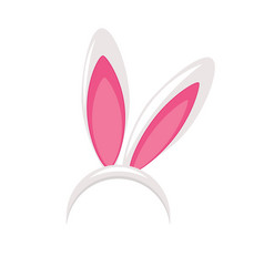 easter bunny ears mask vector image vector image