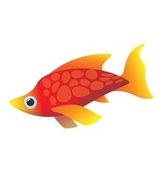 Red sea fish cartoon icon vector image vector image