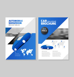 car dealership automobile showroom leaflet vector image