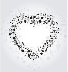 Heart music vector image vector image