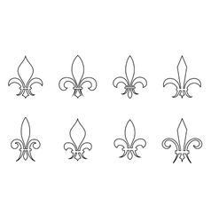 Lily outline set vector image