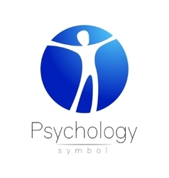 Modern man Logo Sign of Psychology Human in a vector image vector image