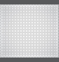 seamless geometric pattern of circles on a white vector image vector image