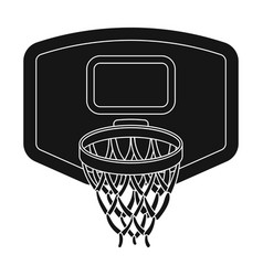Shield with basketbasketball single icon in black vector