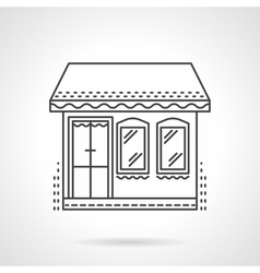 Store flat line icon vector image vector image