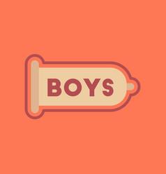 flat icon on stylish background condom vector image