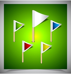 Set of multicolored flag pins vector image