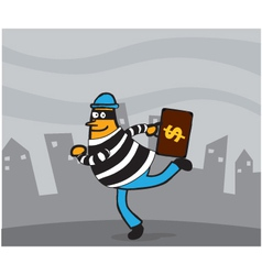 Thief cartoon vector image