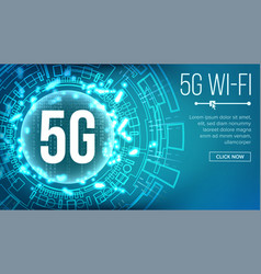 5g wi-fi standard background vector