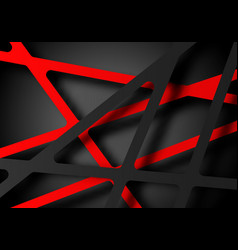 Abstract red gray line shadow texture design vector