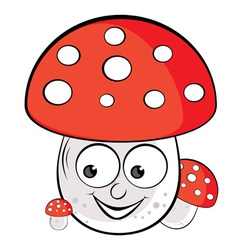 Acrylic of toadstool vector