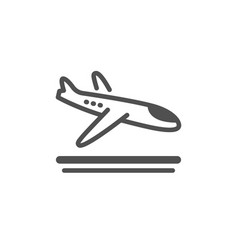 Airport arrivals plane icon airplane landing sign vector
