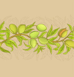 almond pattern vector image