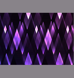 Amethyst fractal crystal shine abstract vector