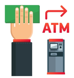 ATM plate vector image