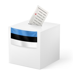 Ballot box with voting paper Estonia vector