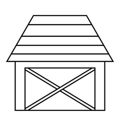 Barn for animals icon outline style vector image