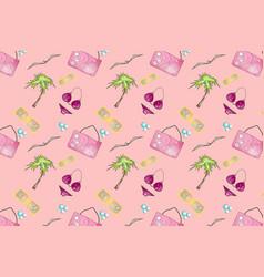 beach pattern vector image