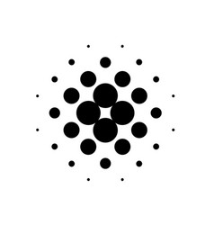 black dot halftone vector image