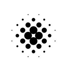 black dot halftone vector image