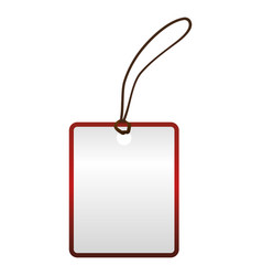 Blank shopping label tag vector