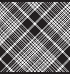 Check black white plaid seamless pattern vector