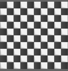 Checkered chess board background vector