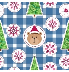 Christmas seamless background with snowflakes vector