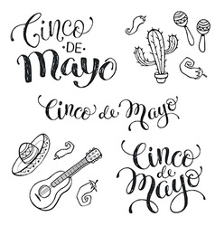 Cinco de mayo phrases vector