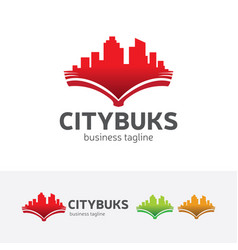 city books logo design vector image