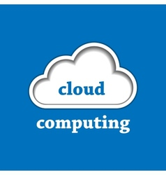 Cloud computing logo template vector image